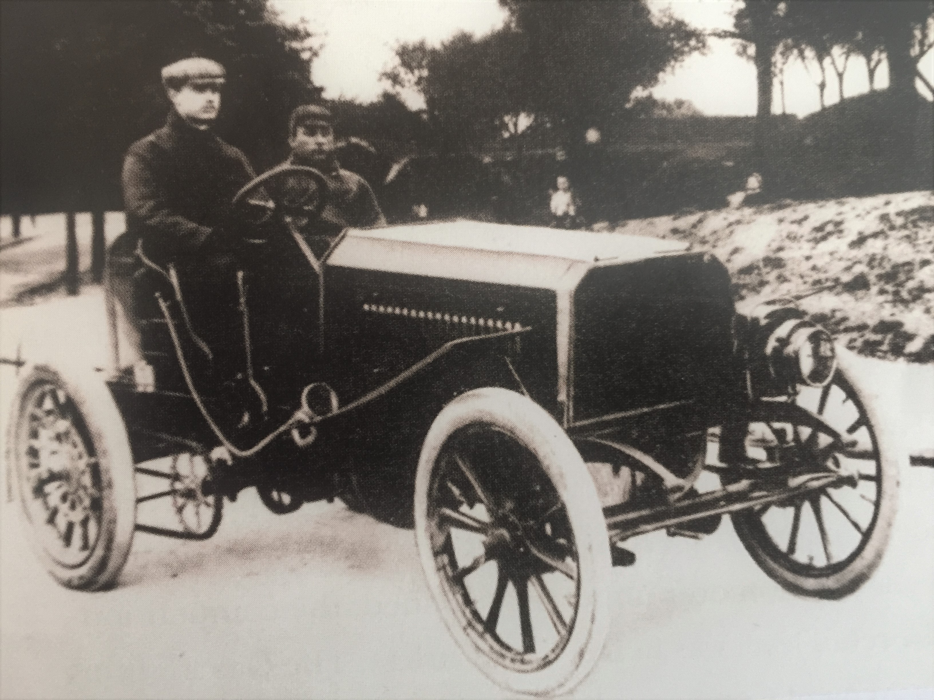 C.S. Rolls in his car at the 1,000 miles trial