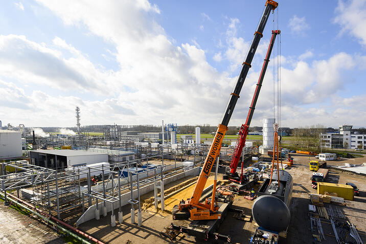 Vorübergehende Unterbrechung der Bautätigkeiten bei Haltermann Carless