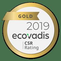 Ecovadis CSR Gold 2019