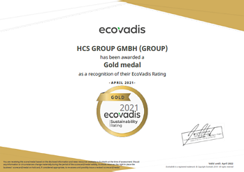 pic_EcoVadis Gold Certificate for HCS Group